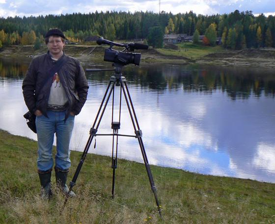 Видеокамера и человек